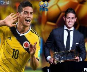 Puzle Prêmio Puskas da FIFA 2014 para James Rodríguez