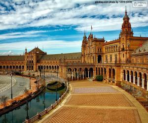 Puzle Praça de Espanha, Sevilha, Espanha