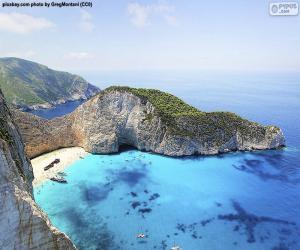 Puzle Praia de Naufrágios, Grécia