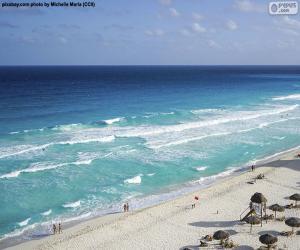 Puzle Praia em Cancun, México