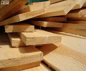 Puzle Pranchas de madeira