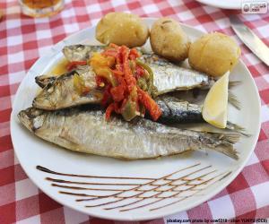 Puzle Prato de sardinha
