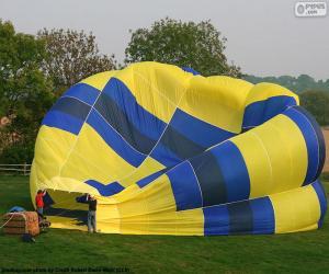 Puzle Preparando o balão de ar quente