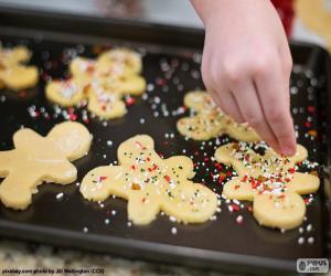 Puzle Preparando o Natal biscoitos