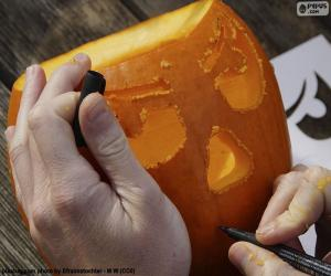Puzle Preparar a abóbora de Halloween