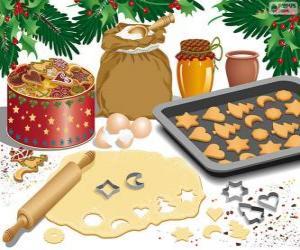 Puzle Preparar biscoitos de Natal