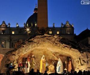 Puzle Presépio da Praça de São Pedro em Roma