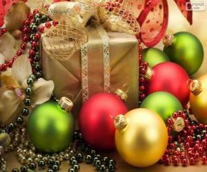 Puzle Presente de Natal decorada