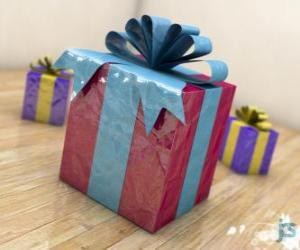 Puzle Presentes de Natal adornadas com fitas