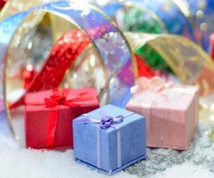 Puzle Presentes de Natal bem apresentada