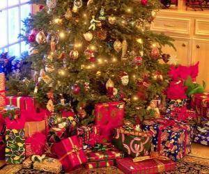 Puzle Presentes sob a árvore de Natal