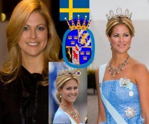 Puzle Princesa Madeleine da Suécia