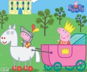 Puzle Princesa Peppa e Sir George