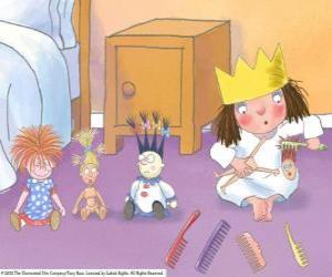 Puzle Princesinha pentear suas bonecas