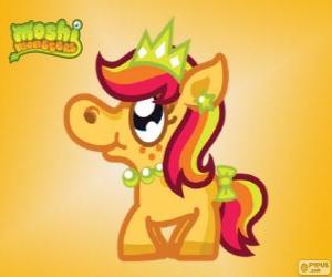 Puzle Priscilla. Moshi Monsters. O pônei princesa