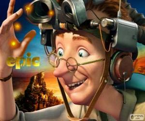 Puzle Professor Bomba, um cientista excêntrico
