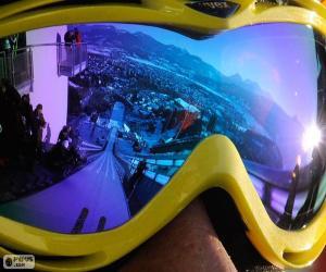 Puzle Pronto para salto de esqui