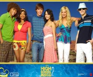 Puzle Protagonistas de High School Musical 2