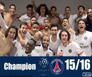 Puzle PSG campeão 2015-2016