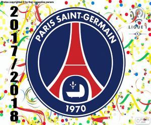 Puzle PSG, campeão Ligue 1 2017-2018