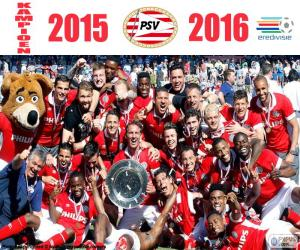 Puzle PSV Eindhoven, campeão 2015-2016