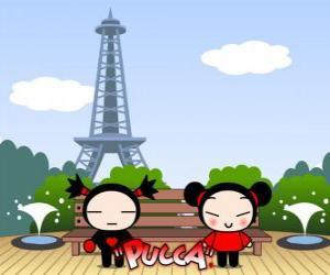 Puzle Pucca e Garu em Paris