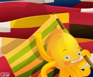 Puzle Pypus e bandeiras