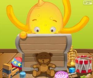 Puzle Pypus e sua caixa de brinquedos