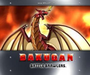 Puzle Pyrus Drago é o guardião Bakugan de Dan