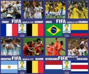 Puzle Quartas de final, Brasil 2014