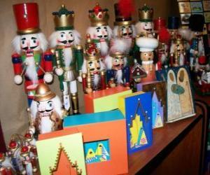 Puzle Quebra-Nozes em forma de soldado de enfeites de Natal