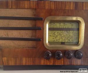 Puzle Rádio antigo
