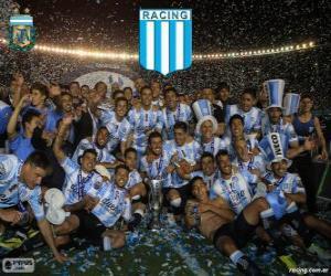 Puzle Racing Club de Avellaneda, campeão do Torneo de Transición 2014 na Argentina