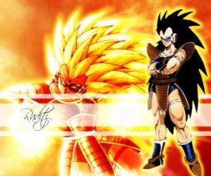 Puzle Raditz, um Saiyan, o irmão mais velho de Goku, que conseguiu sobreviver a destruição do planeta Vegeta