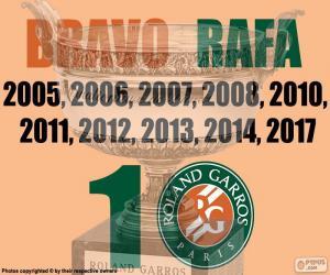 Puzle Rafa Nadal, 10 Roland Garros