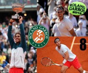 Puzle Rafael Nadal, campeão de Roland Garros 2013