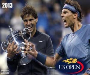 Puzle Rafael Nadal campeão US Open 2013