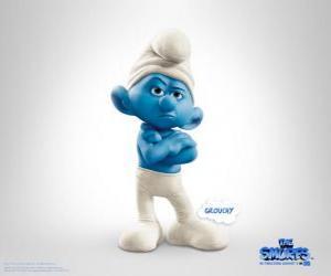 Puzle Ranzinza é o anti-social, as pessoas mal-humorado dos Smurfs - Os Smurfs, filme -