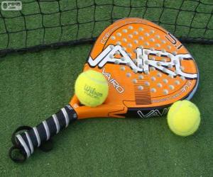 Puzle Raquete e bolas de padel