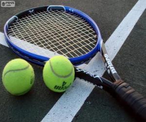 Puzle Raquete e bolas de ténis