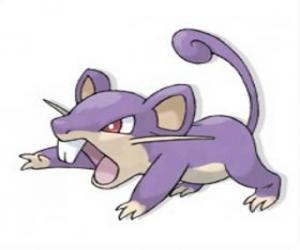Puzle Rattata - Pokémon tipo Normal, rato de ataque rápido