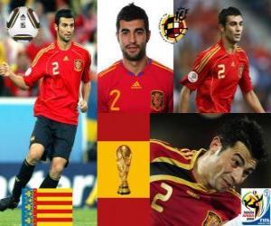 Puzle Raul Albiol (é morto por um alfinete), a defesa da equipe espanhola