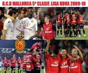 Puzle RCD Mallorca Liga BBVA quinto classificado 2009-2010