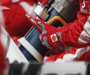Puzle Reabastecimento F1