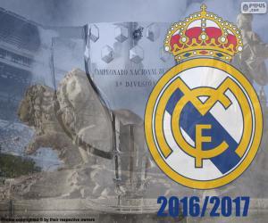 Puzle Real Madrid, campeão 2016-2017
