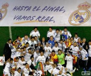 Puzle Real Madrid campeão Copa del Rey 2013-2014