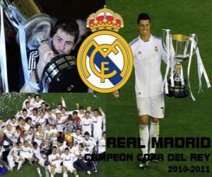 Puzle Real Madrid campeão da Copa del Rey 2010-2011