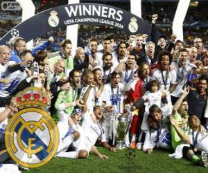 Puzle Real Madrid, campeão da Liga dos Campeões da UEFA 2013-2014