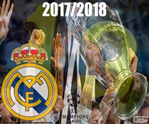 Puzle Real Madrid, campeões de 2017-2018