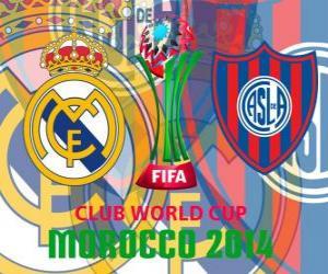 Puzle Real Madrid vs San Lorenzo. Final de Copa do Mundo de Clubes da FIFA 2014 Marrocos